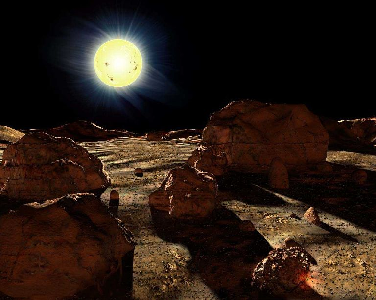 New Horizons : survol de Pluton (2/2) - Page 6 Soleil_vu_de_mercure